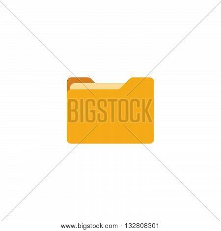 Folder flat icon isolated on white background