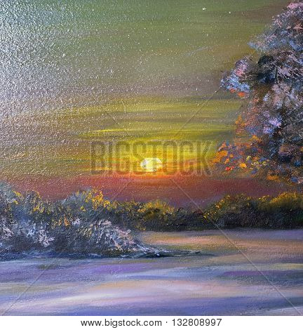 Texture Painting Oil Painting On Canvas, Abstract Landscape Oil Painting, Fine Art Impressionism, Pa