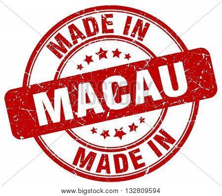 made in Macau red round vintage stamp.Macau stamp.Macau seal.Macau tag.Macau.Macau sign.Macau.Macau label.stamp.made.in.made in.