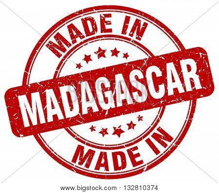 made in Madagascar red round vintage stamp.Madagascar stamp.Madagascar seal.Madagascar tag.Madagascar.Madagascar sign.Madagascar.Madagascar label.stamp.made.in.made in.