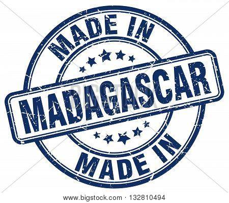 made in Madagascar blue round vintage stamp.Madagascar stamp.Madagascar seal.Madagascar tag.Madagascar.Madagascar sign.Madagascar.Madagascar label.stamp.made.in.made in.