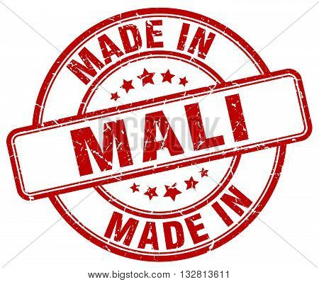 made in Mali red round vintage stamp.Mali stamp.Mali seal.Mali tag.Mali.Mali sign.Mali.Mali label.stamp.made.in.made in.