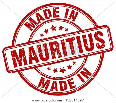 made in Mauritius red round vintage stamp.Mauritius stamp.Mauritius seal.Mauritius tag.Mauritius.Mauritius sign.Mauritius.Mauritius label.stamp.made.in.made in.