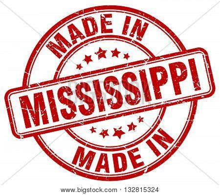 made in Mississippi red round vintage stamp.Mississippi stamp.Mississippi seal.Mississippi tag.Mississippi.Mississippi sign.Mississippi.Mississippi label.stamp.made.in.made in.