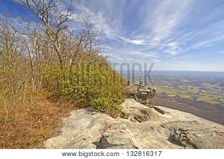 View from the White Cliffs in Cumberland Gap National Park in Virginia