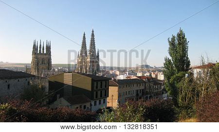 Travel Destinations: Old town of Burgos, Spain .