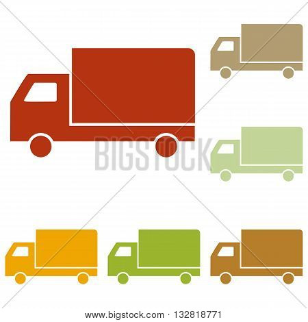Delivery sign illustration. Colorful autumn set of icons.