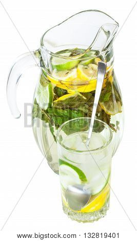 Glass Pitcher And Tumbler With Natural Lemonade