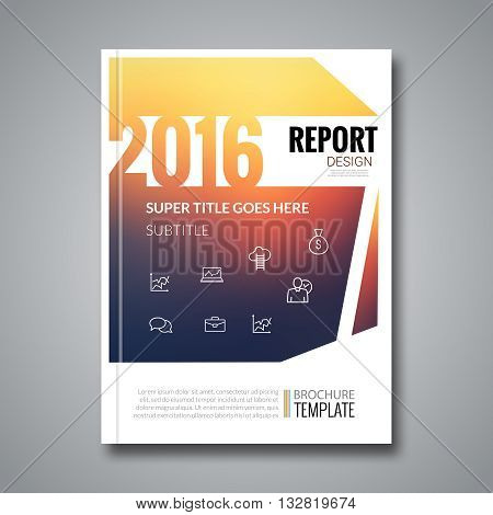 Cover report colorful geometric pattern design background, cover magazine, brochure book cover template 2016, vector illustration.