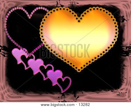 Abstract Love poster