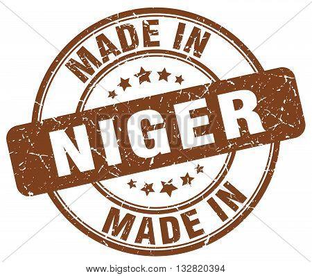 made in Niger brown round vintage stamp.Niger stamp.Niger seal.Niger tag.Niger.Niger sign.Niger.Niger label.stamp.made.in.made in.