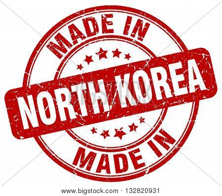 made in North Korea red round vintage stamp.North Korea stamp.North Korea seal.North Korea tag.North Korea.North Korea sign.North.Korea.North Korea label.stamp.made.in.made in.