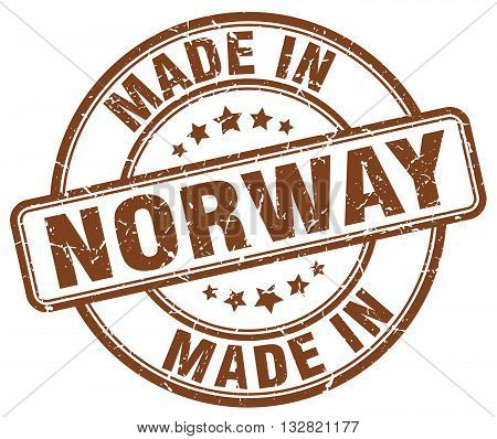 made in Norway brown round vintage stamp.Norway stamp.Norway seal.Norway tag.Norway.Norway sign.Norway.Norway label.stamp.made.in.made in.