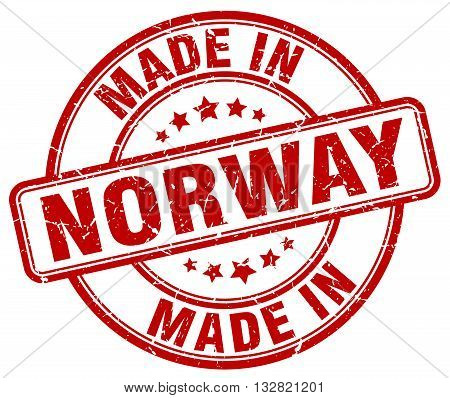 made in Norway red round vintage stamp.Norway stamp.Norway seal.Norway tag.Norway.Norway sign.Norway.Norway label.stamp.made.in.made in.