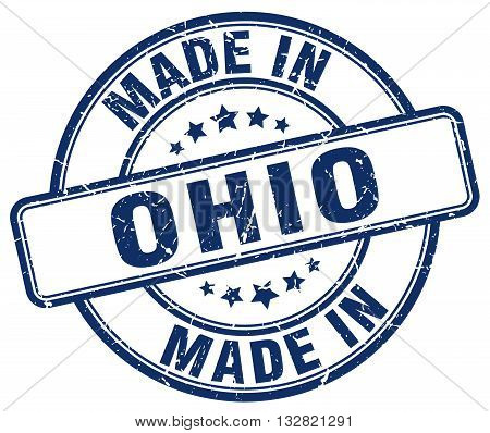 made in Ohio blue round vintage stamp.Ohio stamp.Ohio seal.Ohio tag.Ohio.Ohio sign.Ohio.Ohio label.stamp.made.in.made in.