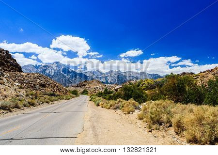 Street At The Alabama Hills, Sierra Nevada