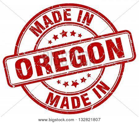 made in Oregon red round vintage stamp.Oregon stamp.Oregon seal.Oregon tag.Oregon.Oregon sign.Oregon.Oregon label.stamp.made.in.made in.