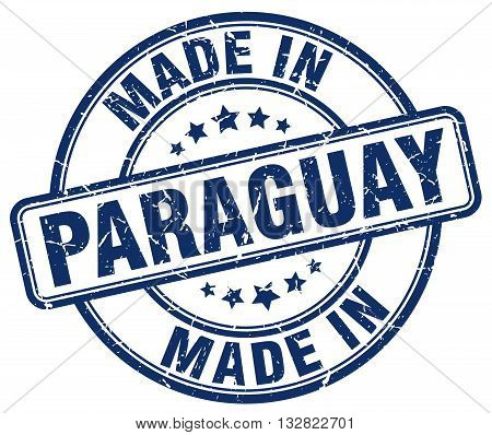 made in Paraguay blue round vintage stamp.Paraguay stamp.Paraguay seal.Paraguay tag.Paraguay.Paraguay sign.Paraguay.Paraguay label.stamp.made.in.made in.