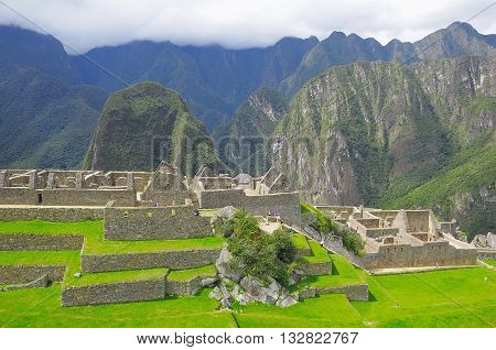 On the streets of Machu Picchu. Peru.