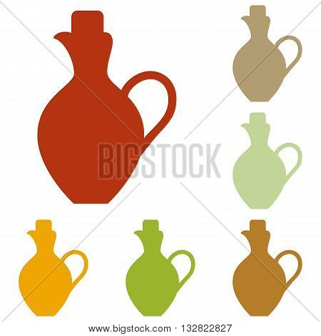 Amphora sign illustration. Colorful autumn set of icons.