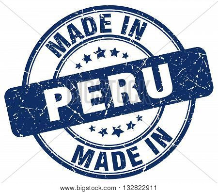 made in Peru blue round vintage stamp.Peru stamp.Peru seal.Peru tag.Peru.Peru sign.Peru.Peru label.stamp.made.in.made in.