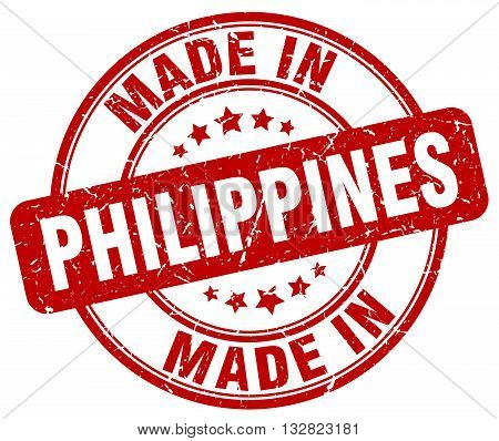 made in Philippines red round vintage stamp.Philippines stamp.Philippines seal.Philippines tag.Philippines.Philippines sign.Philippines.Philippines label.stamp.made.in.made in.