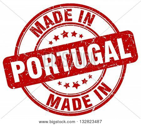 made in Portugal red round vintage stamp.Portugal stamp.Portugal seal.Portugal tag.Portugal.Portugal sign.Portugal.Portugal label.stamp.made.in.made in.