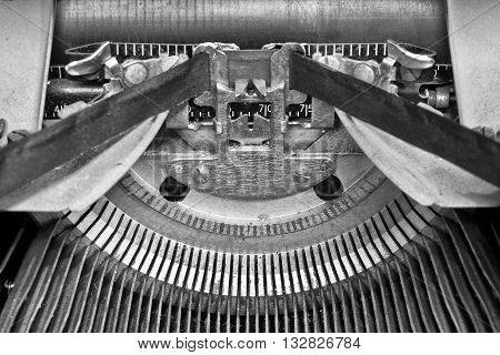 Antique Typewriter - An Antique Typewriter Showing Traditional Typebars IV