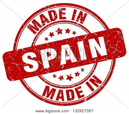 made in Spain red round vintage stamp.Spain stamp.Spain seal.Spain tag.Spain.Spain sign.Spain.Spain label.stamp.made.in.made in.