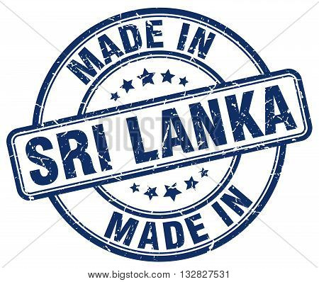 made in Sri Lanka blue round vintage stamp.Sri Lanka stamp.Sri Lanka seal.Sri Lanka tag.Sri Lanka.Sri Lanka sign.Sri.Lanka.Sri Lanka label.stamp.made.in.made in.