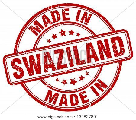 made in Swaziland red round vintage stamp.Swaziland stamp.Swaziland seal.Swaziland tag.Swaziland.Swaziland sign.Swaziland.Swaziland label.stamp.made.in.made in.