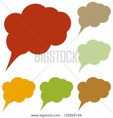 Speach bubble sign illustration. Colorful autumn set of icons.