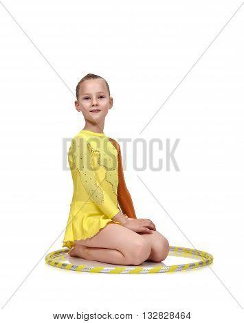 Girl-gymnast With Hula Hoop