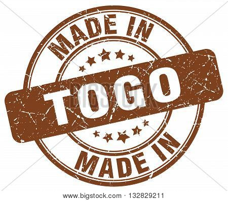 made in Togo brown round vintage stamp.Togo stamp.Togo seal.Togo tag.Togo.Togo sign.Togo.Togo label.stamp.made.in.made in.