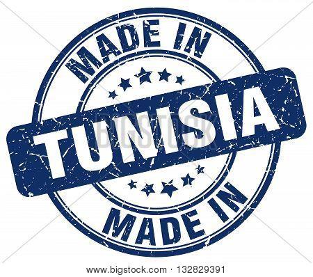 made in Tunisia blue round vintage stamp.Tunisia stamp.Tunisia seal.Tunisia tag.Tunisia.Tunisia sign.Tunisia.Tunisia label.stamp.made.in.made in.