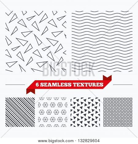 Diagonal lines, waves and geometry design. Triangles lines texture. Stripped geometric seamless pattern. Modern repeating stylish texture. Material patterns.