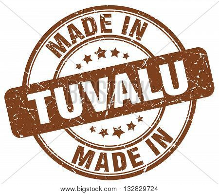 made in Tuvalu brown round vintage stamp.Tuvalu stamp.Tuvalu seal.Tuvalu tag.Tuvalu.Tuvalu sign.Tuvalu.Tuvalu label.stamp.made.in.made in.