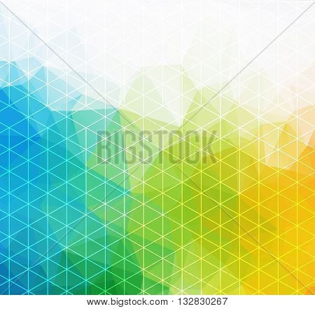 Retro pattern of geometric shapes. Colorful mosaic banner. Geometric hipster retro background with place for your text. Retro triangle background.
