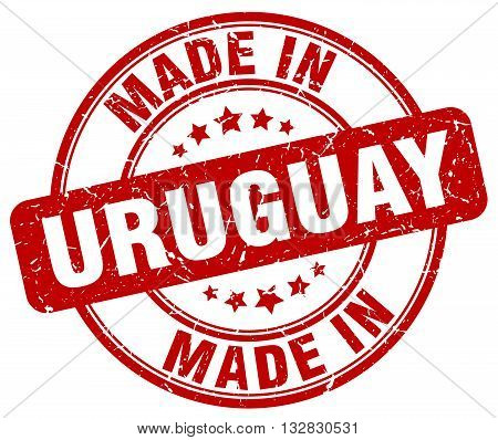 made in Uruguay red round vintage stamp.Uruguay stamp.Uruguay seal.Uruguay tag.Uruguay.Uruguay sign.Uruguay.Uruguay label.stamp.made.in.made in.