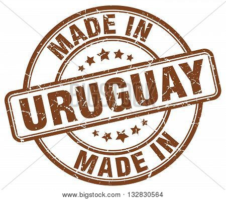 made in Uruguay brown round vintage stamp.Uruguay stamp.Uruguay seal.Uruguay tag.Uruguay.Uruguay sign.Uruguay.Uruguay label.stamp.made.in.made in.