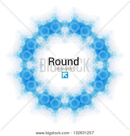 Vector triangle pattern background. Kaleidoscope flower mandala. Modern design template, vector illustration mosaic.