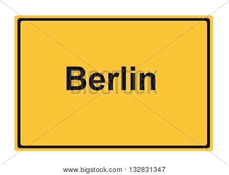 Berlin street sign Highway road trip Holiday Drive Travel signpost