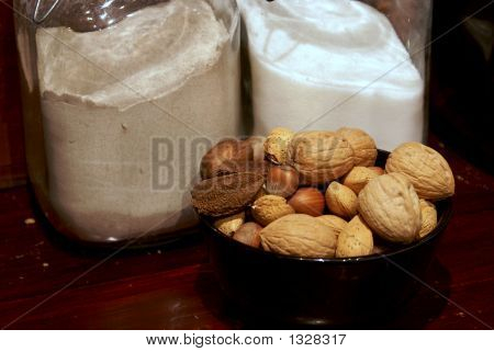 Country Kitchen Nuts Flour And Sugar