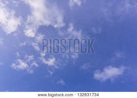Beauty blue sky with clouds , background