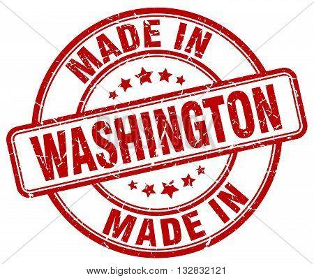 made in Washington red round vintage stamp.
