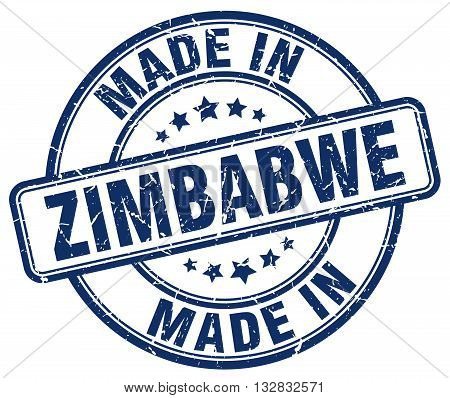 made in Zimbabwe blue round vintage stamp.Zimbabwe stamp.Zimbabwe seal.Zimbabwe tag.Zimbabwe.Zimbabwe sign.Zimbabwe.Zimbabwe label.stamp.made.in.made in.