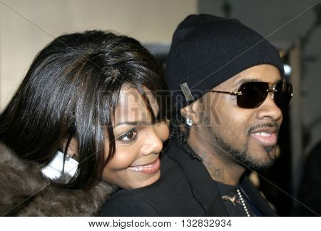 Janet Jackson and Jermaine Dupri at the Los Angeles premiere of 'Ray' held at the Cinerama Dome in Hollywood, USA on October 19, 2004.