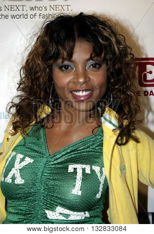 Taraji P. Henson at the 2nd Semi Annual Fashion Wire Daily's event NEXT at Mondrian Hotel's SkyBar in West Hollywood, USA on October 25, 2004.