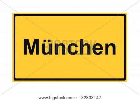 München street sign Highway road trip Holiday