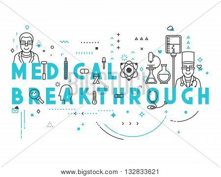 Medicine concept breakthrough. Creative design elements for websites, mobile apps and printed materials. Medicine banner design